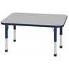 "24""x48"" Rectangular T-Mold Activity Table, Grey/Navy/Chunky"