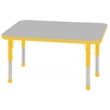 "ECR4Kids 24x48"" Rect Table Grey/Yellow-Chunky"