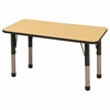 "ECR4Kids 24x48"" Rect Table Maple/Black-Chunky"