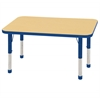 "24""x48"" Rectangular T-Mold Activity Table, Maple/Blue/Chunky"