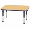 "ECR4Kids 24x48"" Rect Table Maple/Blue -Chunky"