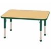 "ECR4Kids 24x48"" Rect Table Maple/Green-Chunky"