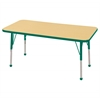 "24""x48"" Rectangular T-Mold Activity Table, Maple/Green/Standard Ball"
