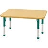 "24""x48"" Rectangular T-Mold Activity Table, Maple/Maple/Green/Chunky"