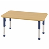 "ECR4Kids 24""x48"" Rect Maple/Maple/Navy Chunky"