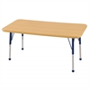 "24""x48"" Rectangular T-Mold Activity Table, Maple/Maple/Navy/Toddler Ball"