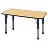 "24""x48"" Rectangular T-Mold Activity Table, Maple/Navy/Chunky"