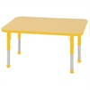 "24""x48"" Rectangular T-Mold Activity Table, Maple/Yellow/Chunky"
