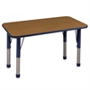 "ECR4Kids 24x48"" Rect Table Oak/Navy-Chunky"