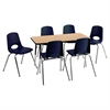 "Rect. 24""x48"" Table OKBK-TS & 6-10""NVG Chairs"