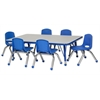"ECR4Kids 30x48"" Rect Table Grey/Blue-Toddler Ball"
