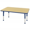 "ECR4Kids 30x48"" Rect Table Maple/Blue -Chunky"