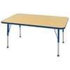 "30""x48"" Rectangular T-Mold Activity Table, Maple/Blue/Standard Ball"