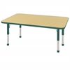 "ECR4Kids 30x48"" Rect Table Maple/Green-Chunky"
