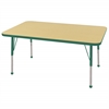 "ECR4Kids 30x48"" Rect Table Maple/Green-Standard Ball"