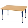 "30""x48"" Rectangular T-Mold Activity Table, Maple/Maple/Blue/Chunky"