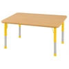 "30""x48"" Rectangular T-Mold Activity Table, Maple/Maple/Yellow/Chunky"