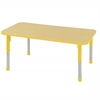 "ECR4Kids 30x48"" Rect Table Maple/Yellow-Chunky"