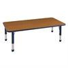"30""x60"" Rectangular T-Mold Activity Table, Oak/Navy/Chunky"