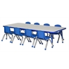 "30x72"" Rect Table Grey/Blue-Toddler Ball"