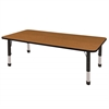 "ECR4Kids 36x72"" Rect Table Oak/Black-Chunky"