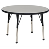 "36"" Round T-Mold Activity Table, Grey/Black/Toddler Ball"