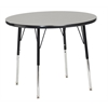 "36"" Round T-Mold Activity Table, Grey/Black/Toddler Swivel"