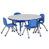 "ECR4Kids 36"" Round Table Grey/Blue-Toddler Ball"