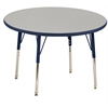 "36"" Round T-Mold Activity Table, Grey/Navy/Standard Swivel"