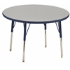 "ECR4Kids 36"" Round Table Grey/Navy-Toddler Swivel"