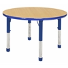 "36"" Round Table Maple/Blue -Chunky"
