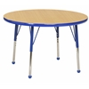 "ECR4Kids 36"" Round Table Maple/Blue -Standard Ball"