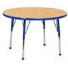 "36"" Round T-Mold Activity Table, Maple/Blue/Toddler Ball"