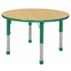 "36"" Round T-Mold Activity Table, Maple/Green/Chunky"