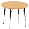 "36"" Round T-Mold Activity Table, Maple/Maple/Black/Toddler Ball"