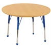 "36"" Round T-Mold Activity Table, Maple/Maple/Blue/Toddler Ball"