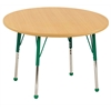 "36"" Round T-Mold Activity Table, Maple/Maple/Green/Toddler Ball"