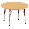 "36"" Round T-Mold Activity Table, Maple/Maple/Red/Toddler Ball"