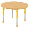 "36"" Round T-Mold Activity Table, Maple/Maple/Yellow/Chunky"