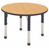 "ECR4Kids 36"" Round Table Maple/Navy -Chunky"