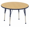 "ECR4Kids 36"" Round Table Maple/Navy -Toddler Ball"