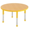"36"" Round T-Mold Activity Table, Maple/Yellow/Chunky"