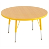 "36"" Round T-Mold Activity Table, Maple/Yellow/Standard Swivel"
