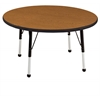 "36"" Round T-Mold Activity Table, Oak/Black/Standard Ball"