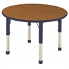 "36"" Round T-Mold Activity Table, Oak/Navy/Chunky"
