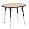 "36"" Round T-Mold Activity Table, Oak/Navy/Standard Swivel"