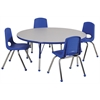 "ECR4Kids 48"" Round Table Grey/Blue-Standard Ball"