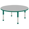 "48"" Round T-Mold Activity Table, Grey/Green/Chunky"