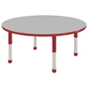 "48"" Round T-Mold Activity Table, Grey/Red/Chunky"