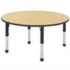 "ECR4Kids 48"" Round Table Maple/Black-Chunky"